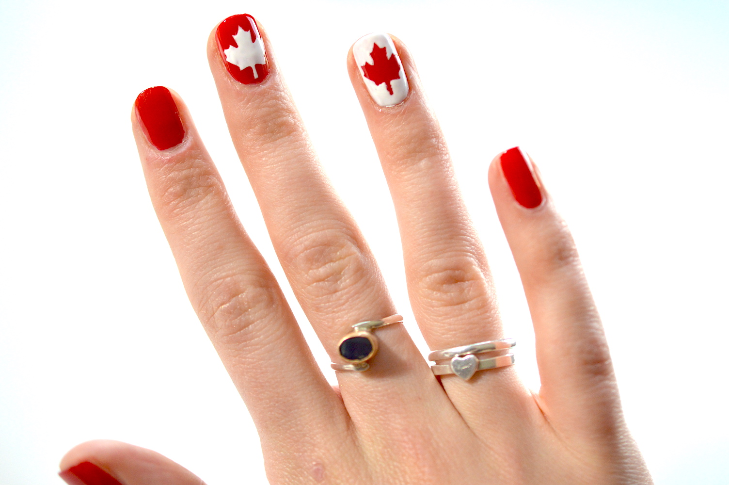 Manicure Routine Nail Art Hack Ft Canada 150 Decals Classically