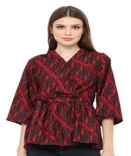 model baju batik atasan buat kerja
