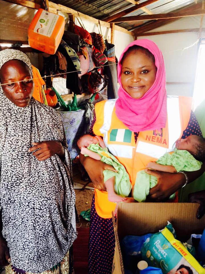 Photos: Woman delivers twins at IDP camp Yola