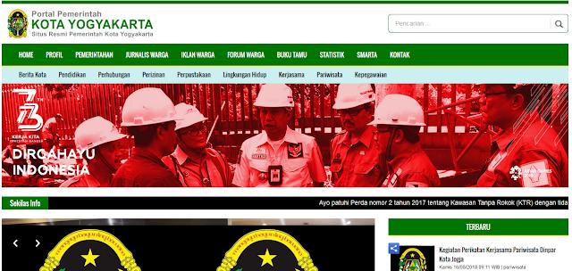 Website pemerintah Kota Jogja