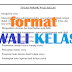 Format Program Wali Kelas