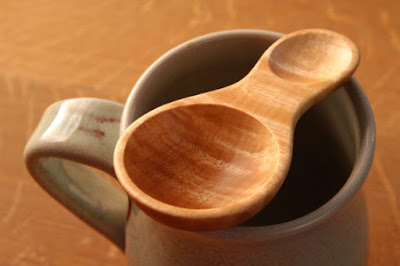 Maple Wooden Coffee Scoop