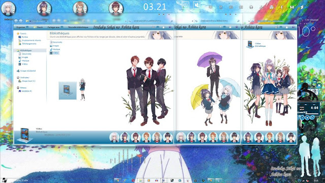 Windows 7 Theme Irozuku Sekai no Ashita kara by Andrea_37