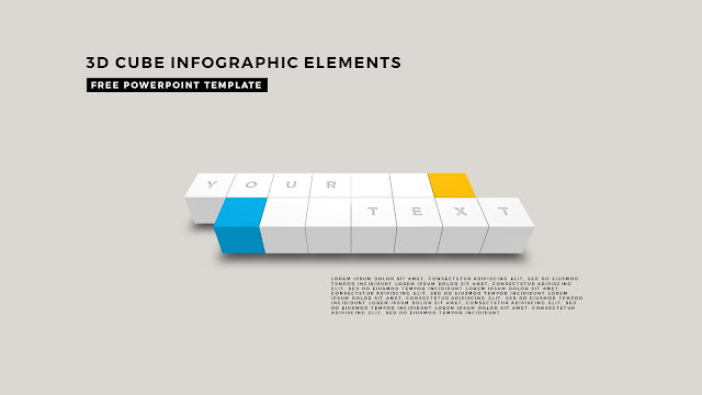 3D Cube Infographic Elements for Free PowerPoint Template Design Slide 8