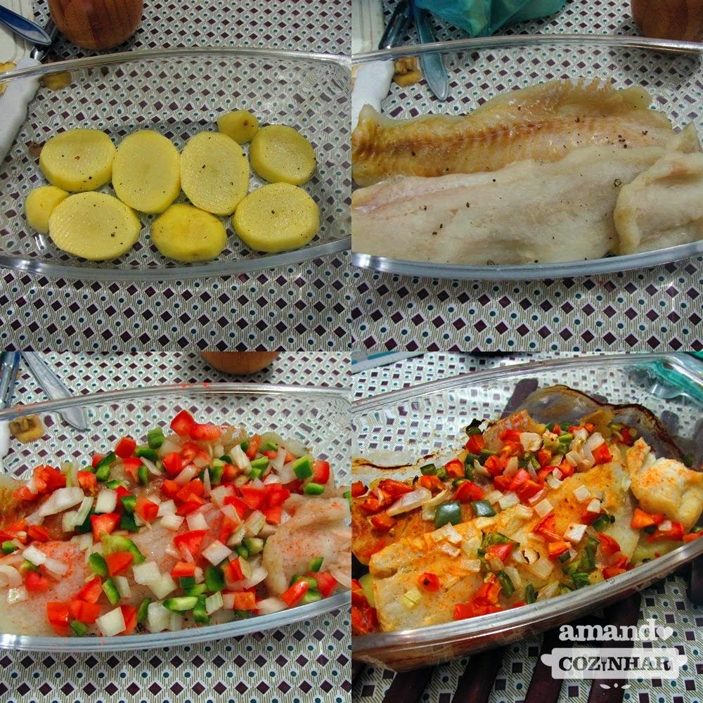 file de peixe no forno