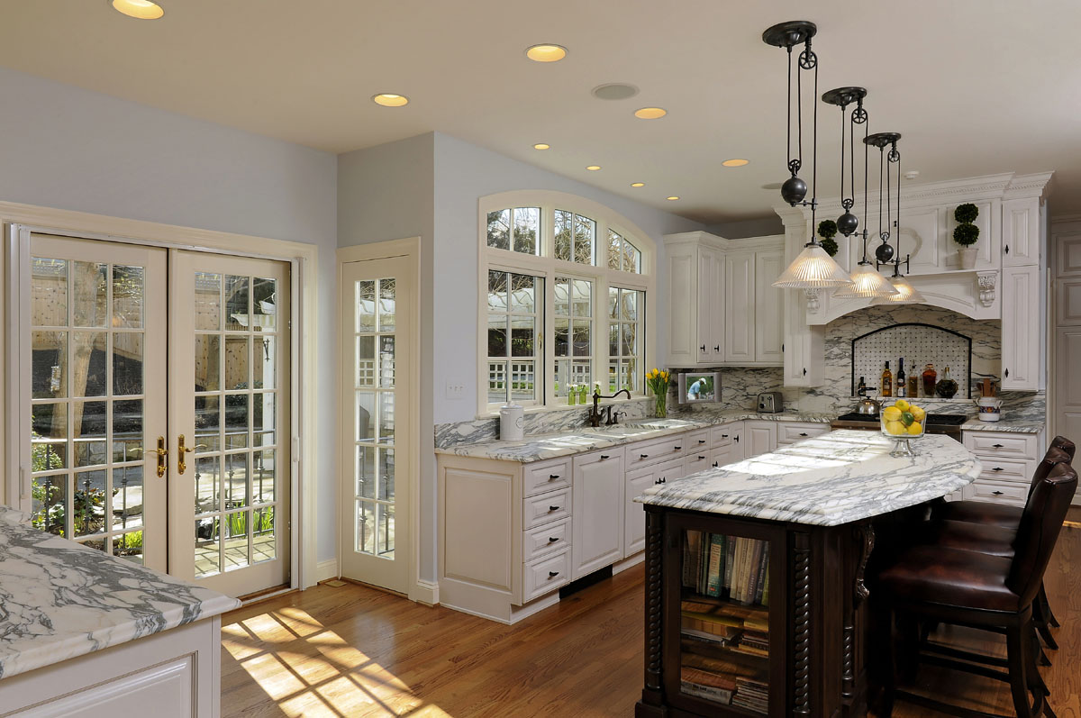 kitchen remodel provides easy transition to beautiful rear yard in mclean va