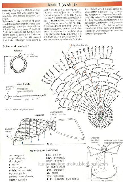Dzwoneczki na szydełku - schemat i opis DIY