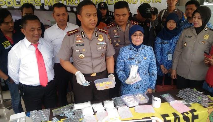 Polrestro Tangerang Amankan Penjual Obat Keras Tanpa Ijin