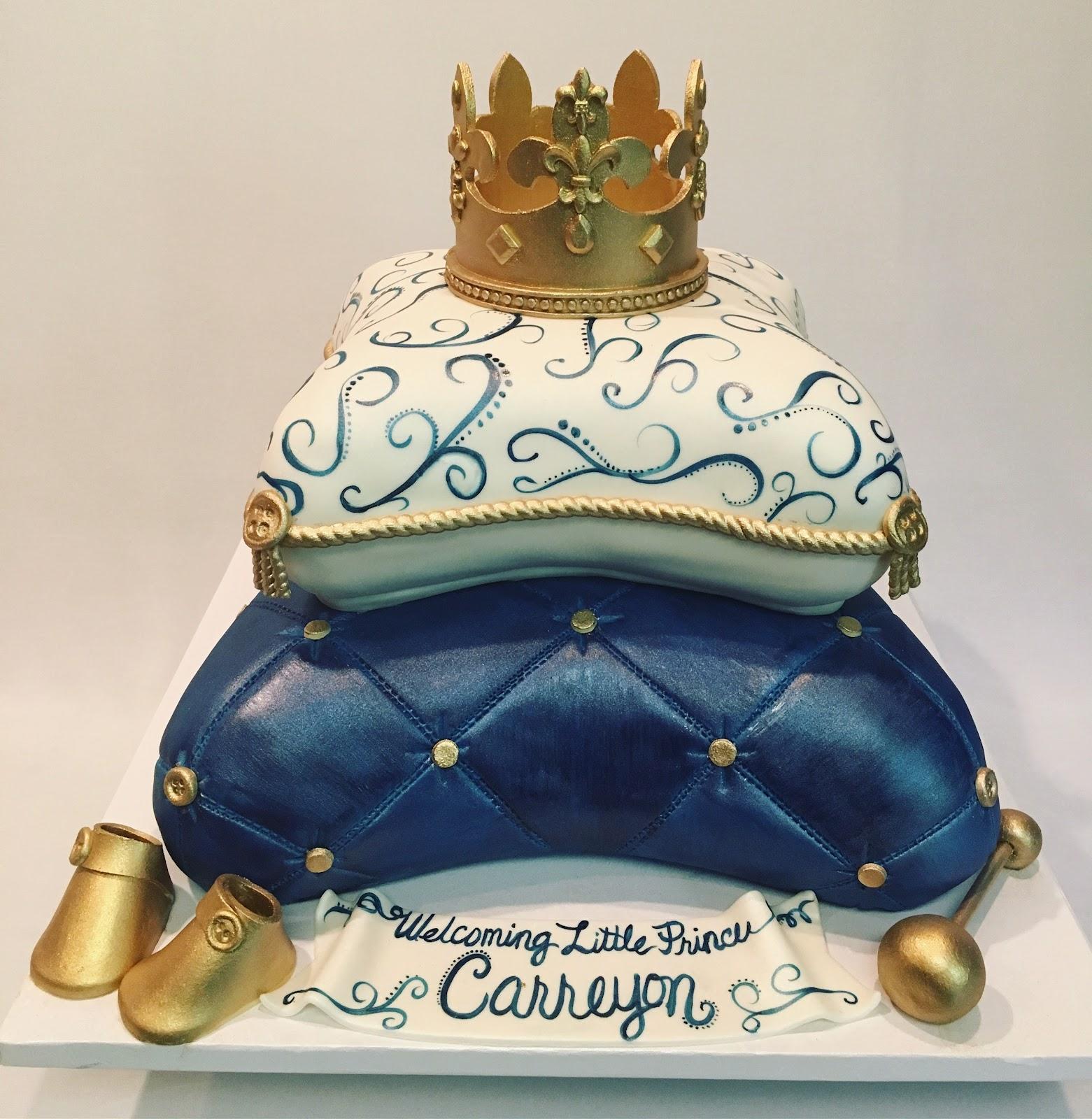 Royal Prince Crown Cake Topper