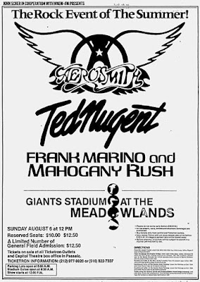 Flyer for the show August 6, 1978