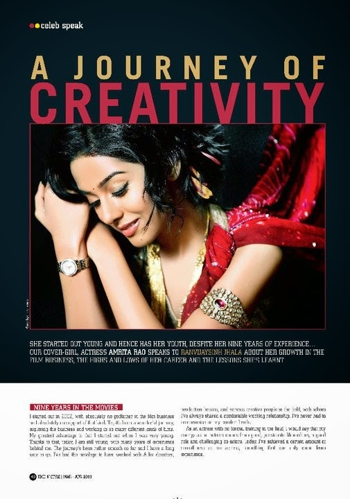 Amrita Rao in time' n style Magazine