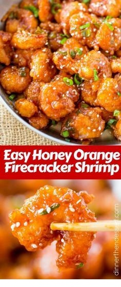 Honey Orange Firecracker Shrimp