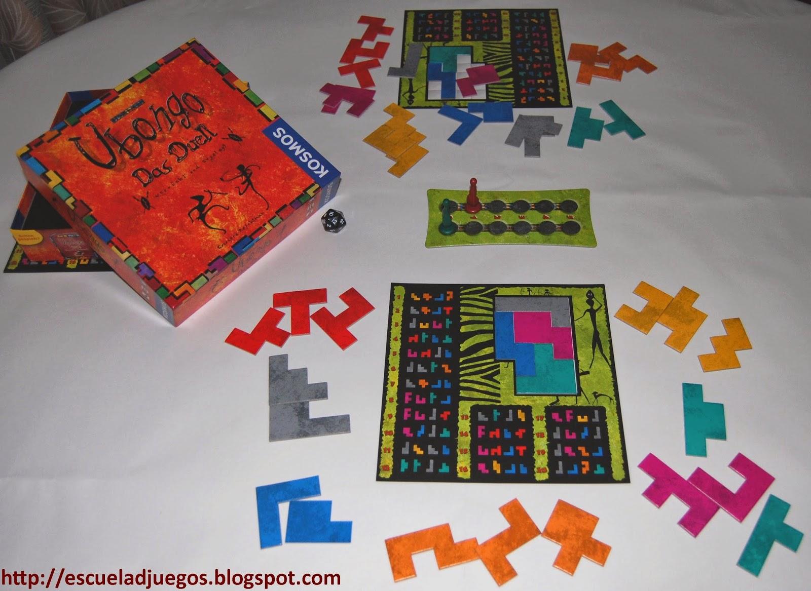Ubongo Das Duell, juego de mesa para 2 jugadores editado por Kosmos