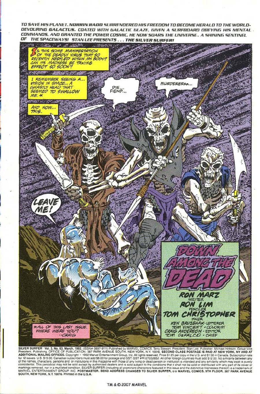 Read online Silver Surfer (1987) comic -  Issue #63 - 3