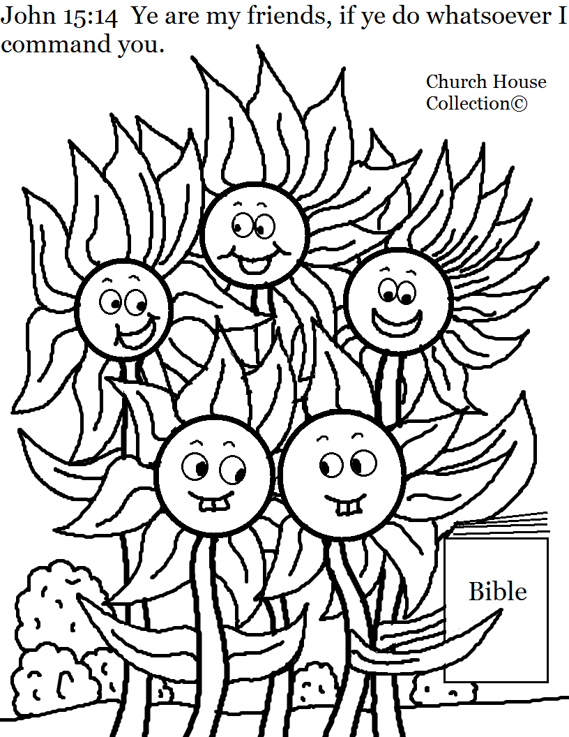 church house collection blog flower family john 15 14 coloring