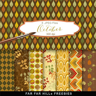 New Freebies Kit of Backgrounds - October