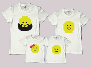kaos couple family gambar lego