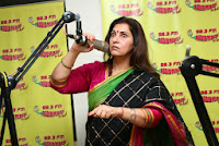 Actress Dimple Kapadia At Radio Mirchi Studio