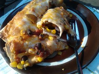 Potato Black Bean Salsa Burritos 8