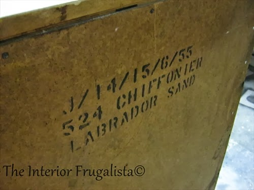 Furniture Maker's Stamp on Vintage Dresser conversion