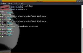 Trash-Cli exclusão usando o terminal
