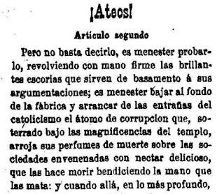 Fragmento de la segunda entrega publicada en Las Dominicales del Libre Pensamiento