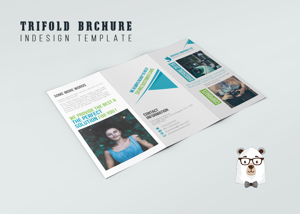 Muti Purposes Trifold Indesign Brochure Template Ronour Design Studio
