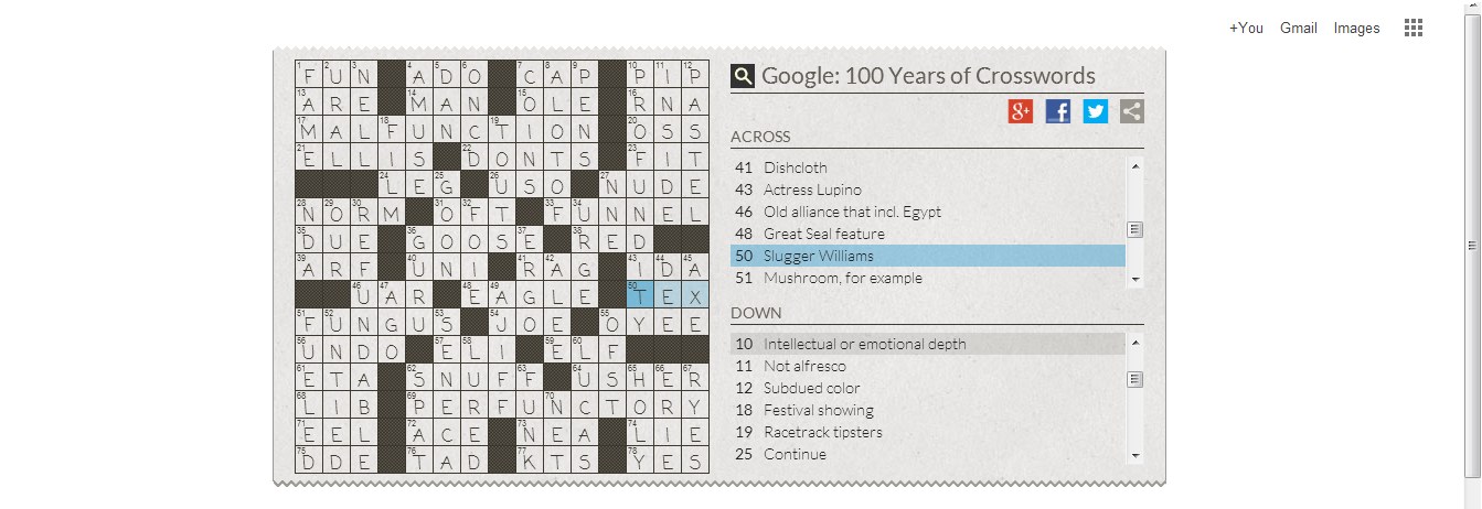 Ross Columns Google Doodle Crossword Answers