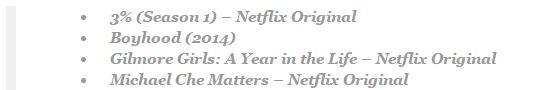 Netflix November 2016