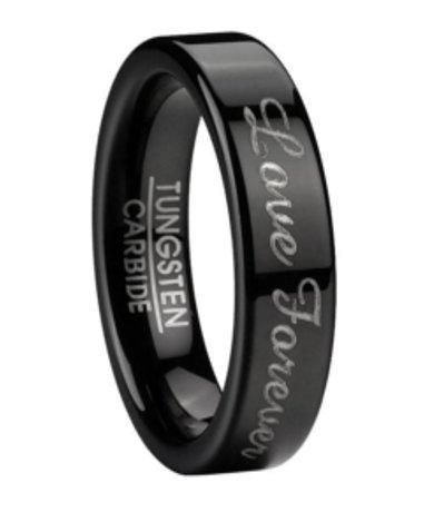 Mens Black Tungsten Wedding Rings