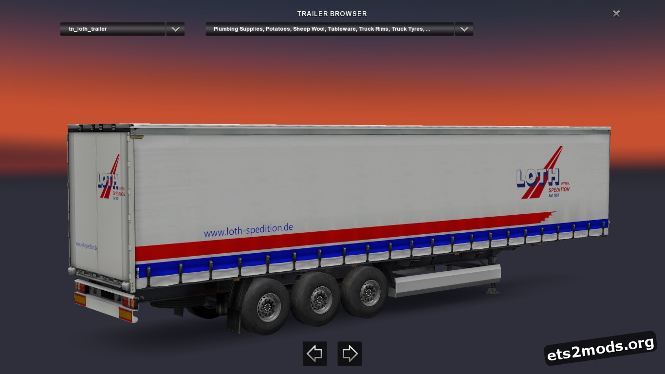 Loth Transports Trailer