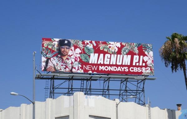 Magnum PI series premiere billboard