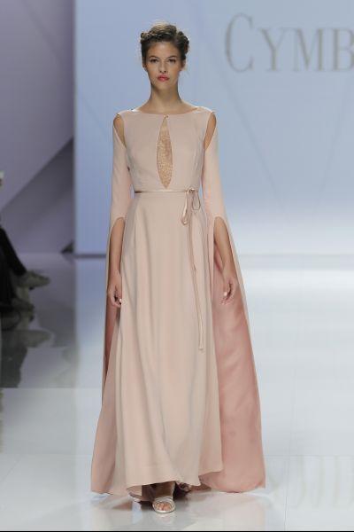 vestidos de novia de colores sencillos
