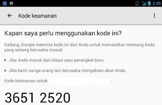 Verifikasi Akun Gmail Menggunakan Perangkat Android Yang Terhubung
