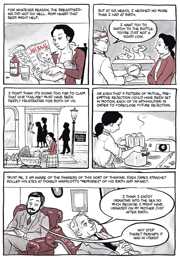 Page 22, Chapter 2: Transitional Objects from Alison Bechdel's graphic novel Are You My Mother