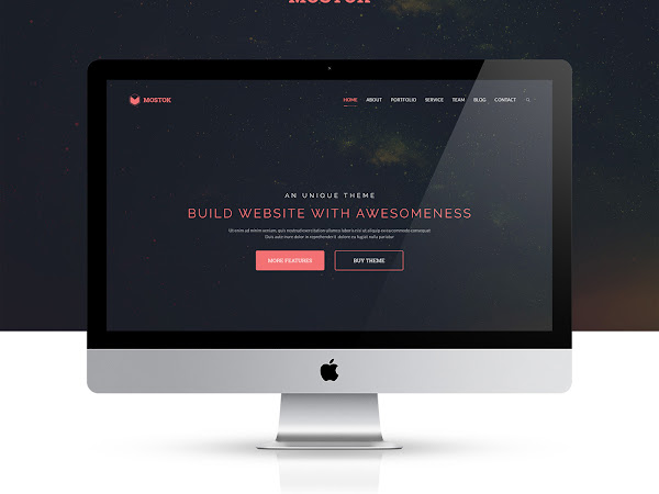Download Mostok One Page Agency Template PSD Free