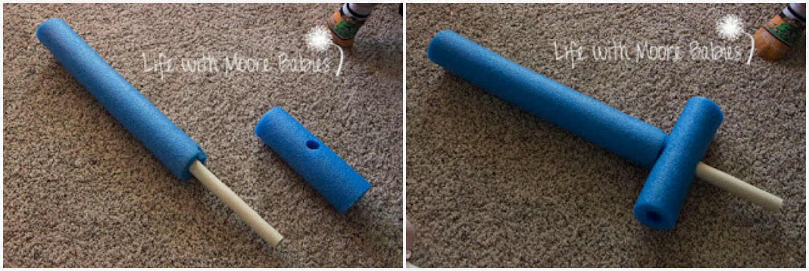 Make Your Own Simple Pool Noodle Swords - Life with Moore Babies