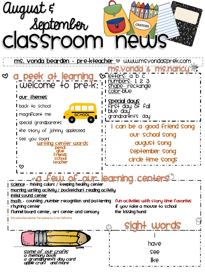 sept Free Template For A Pre K Newsletter on free newsletter templates downloads, free printable classroom newsletter templates, free daycare newsletter templates, free downloadable classroom newsletters, free printable blank newsletter templates, free pre k calendar, free printable school newsletter templates, free preschool templates, free printable teacher newsletter templates, free pre k lesson plans,