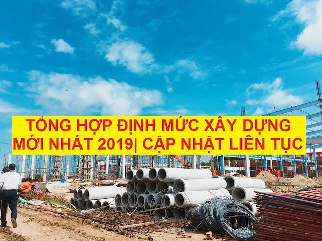Định mức xây dựng mới nhất 2019
