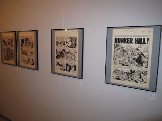 Original art at the exposition of Wally Wood in Palma de Mallorca, Sp