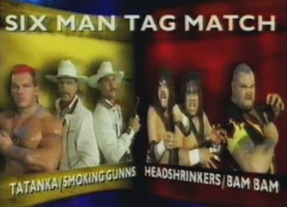 WWF / WWE SUMMERSLAM 1993: Six Man Tag - Tatanka & The Smoking Guns vs. Bam Bam Bigelow & The Headshrinkers
