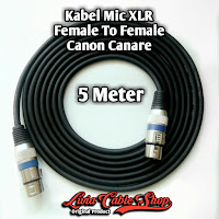 Kabel Mic XLR Female To Female Canon Canare 5 Meter
