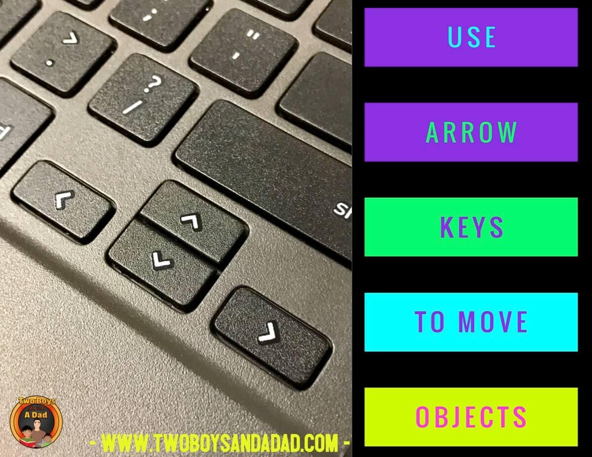 comparing fractions using Google Slides arrow keys