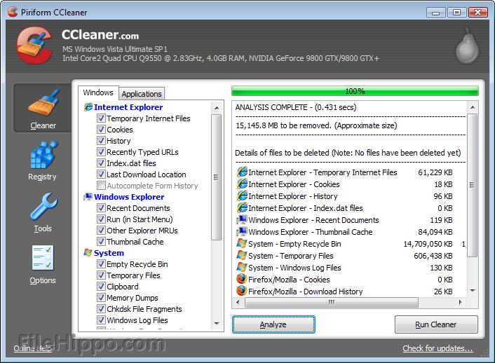 برنامج تنظيف وتسريع الويتدوز CCleaner 5.02.5101