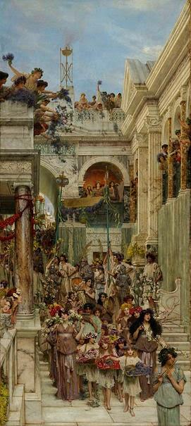 Primavera (detalhe) - As mais belas pinturas de Lawrence Alma-Tadema - (Neoclassicismo)