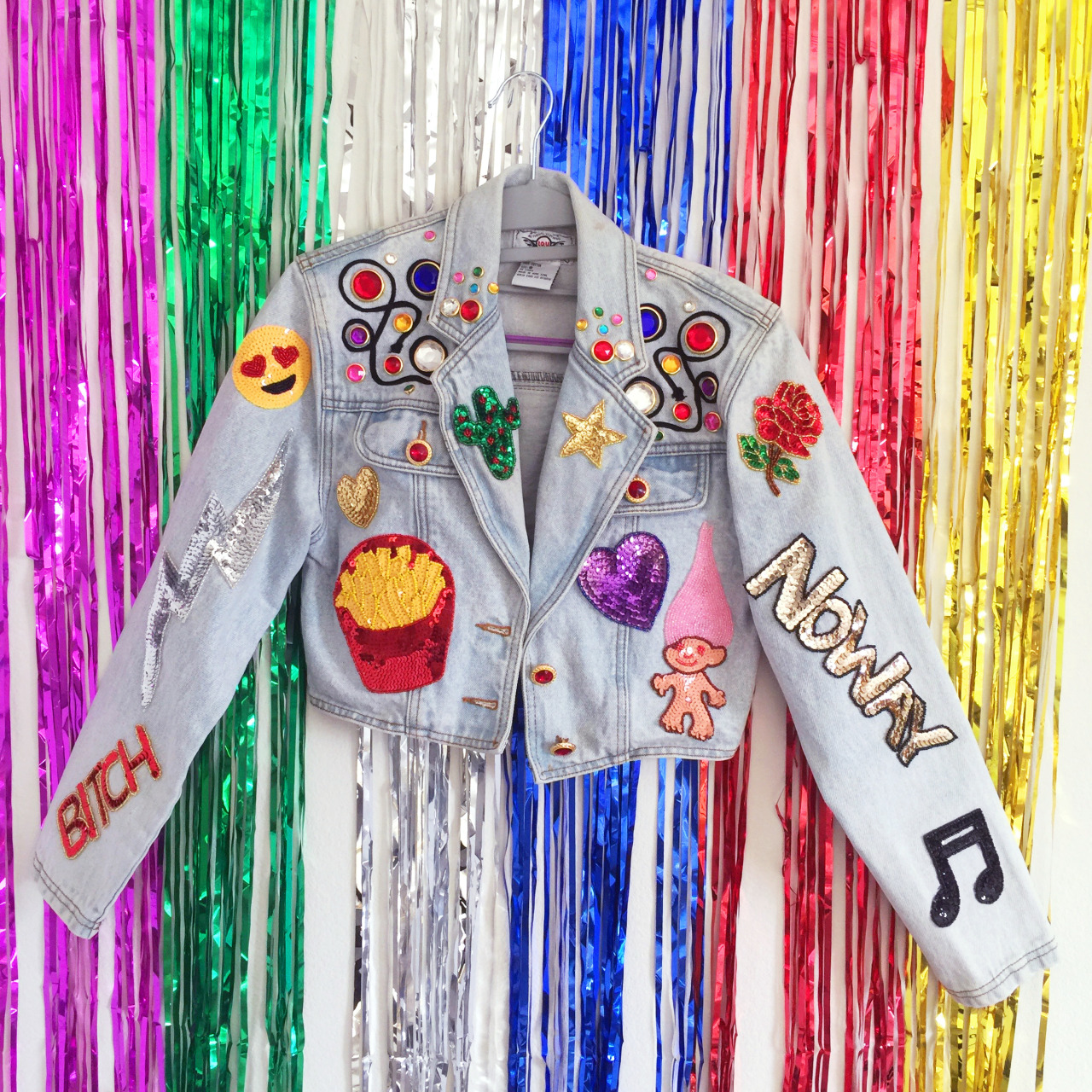 Denim Jacket and patches, Fashion, Style, Denim, embroiderary