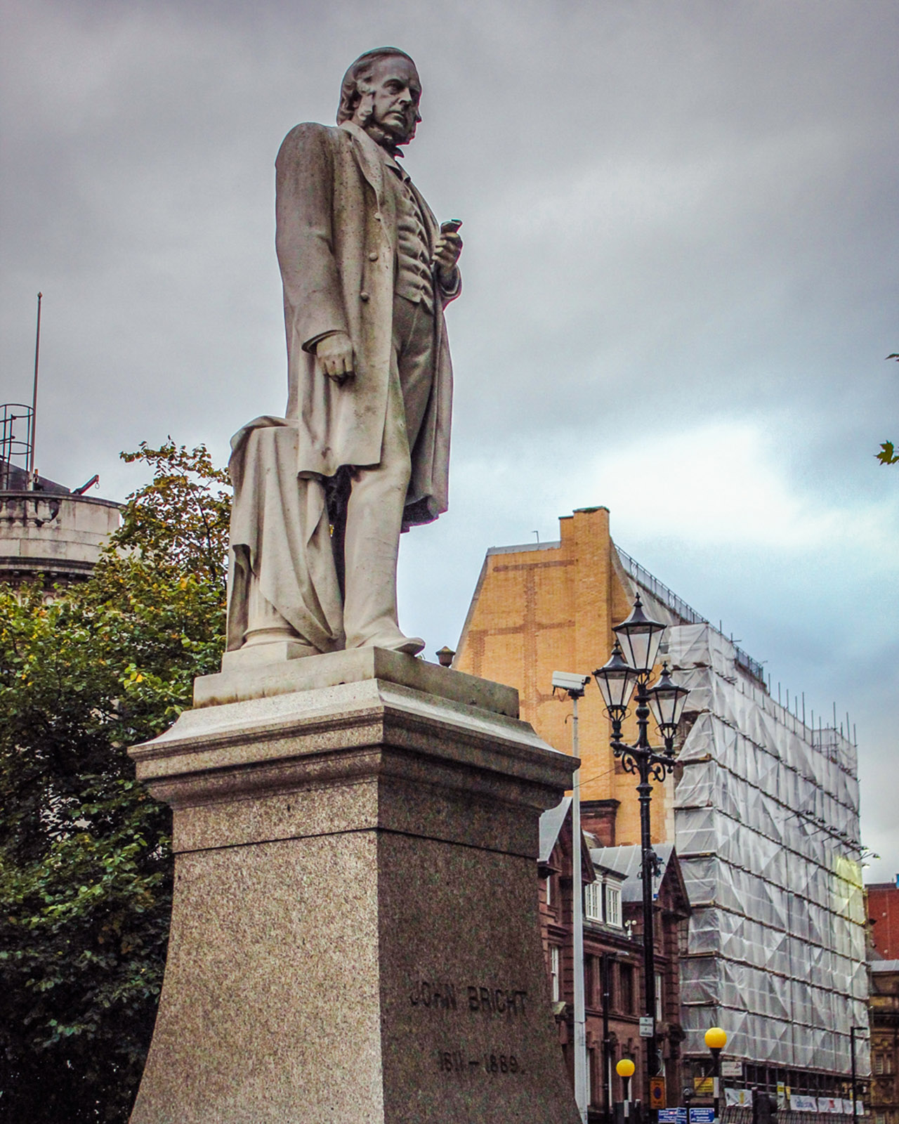 John bright satue manchester public art