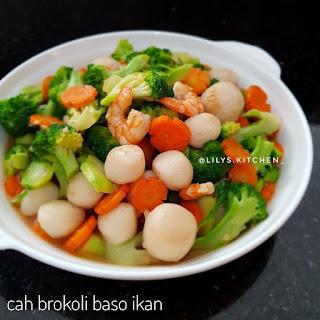 Ide Resep Masak Cah Brokoli Baso Ikan