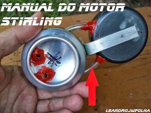 Manual do motor Stirling, mangueirinhas de plástico de 6mm