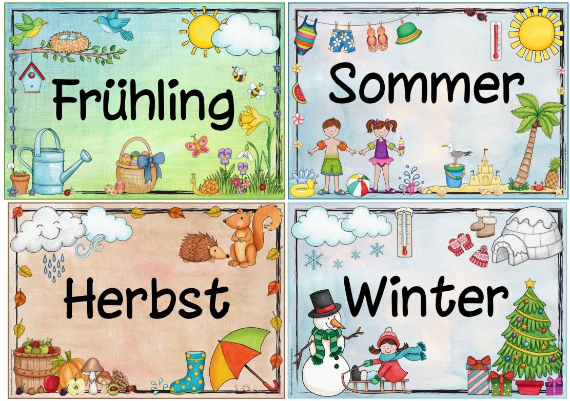 Ideenreise Blog Jahreszeitenplakate